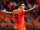 Robin van Persie of Holland during the FIFA 2014 World Cup Qualifing match between Holland and Hungary at Amsterdam Arena on October 11, 2013