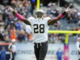 Keenan Lewis of the New Orleans Saints celebrates a victory against the Chicago Bears on October 6, 2013