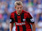 Matej Vydra of West Bromwich Albion during the Barclays Premier League match between Everton and West Bromwich Albion at Goodison Park on August 24, 2013