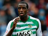 Michael Ngoo of Yeovil in action during the Sky Bet Championship match between Burnley and Yeovil Town at Turf Moor on August 17, 2013