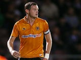 Richard Stearman of Wolverhampton Wanderers in action during the Capital One Cup 2nd Round match against Northampton Town on August 30, 2012