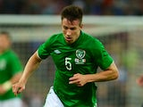 Republic of Ireland defender Sean St Ledger in action against England on May 29, 2013