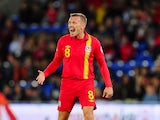 Wales player Craig Bellamy reacts during the FIFA 2014 World Cup Qualifier Group D match between Wales and Macedonia at Cardiff City Stadium on October 11, 2013
