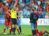Wayne Rooney is red carded during England's clash with Montenegro in 2011.