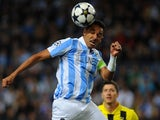 Malaga defender Weligton in action against Dortmund on April 3, 2013