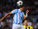 Malaga defender Weligton in action against Dortmund on April 3, 2013