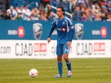 Alessandro Nesta #14 of the Montreal Impact controls the ball against the New England Revolution during the MLS match at Saputo Stadium on October 27, 2012