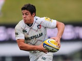 Anthony Allen of Leicester Tigers during the Aviva Premiership match between Exeter Chiefs and Leicester Tigers at Sandy Park on September 29, 2013