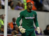 Carl Ikeme of Wolverhampton Wanderers in action during the npower Championship match between Wolverhampton Wanderers and Barnsley at Molineux on August 21, 2012