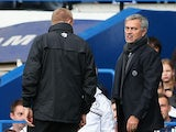 Chelsea manager Jose Mourinho is sent off by referee Anthony Taylor during the Barclays Premier League match between Chelsea and Cardiff City at Stamford Bridge on October 19, 2013