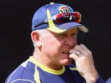 Coach Craig McDermott during the Australian national cricket team training session at Sahara Park Newlands on October 12, 2011