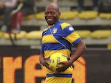 Faustino Asprilla of Stelle Gialloblu during the 100 Years Anniversary match between Stelle Crociate and US Stelle Gialloblu at Stadio Ennio Tardini on October 13, 2013