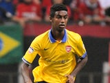 Gedion Zelalem of Arsenal in action during the pre-season friendly match between Urawa Red Diamonds and Arsenal at Saitama Stadium on July 26, 2013