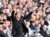 Manager of Sunderland Gus Poyet gives instructions during the Barclays Premier League match between Swansea City and Sunderland at Liberty Stadium on October 19, 2013