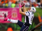 Julian Edelman #11 of the New England Patriots hauls in a pass during the game against the Cincinnati Bengals at Paul Brown Stadium on October 6, 2013