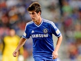 Lucas Piazon of Chelsea FC running with the ball during the friendly match between Chelsea FC and the Singha Thailand All-Star XI Rajamangala Stadium on July 17, 2013