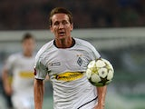 Borussia Moenchengladbach's Luuk de Jong in action against FC Dynamo Kyiv on August 21, 2012