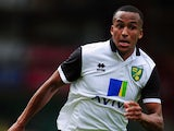 Martin Olsson of Norwich City in action during the pre-season friendly match between Norwich City and Panathinaikos at Carrow Road on August 10, 2013