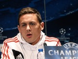 Benfica's Serbian midfielder Nemanja Matic gives a press conference at the Parc des Princes stadium in Paris on October 1, 2013