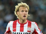 Ola Toivonen of PSV Eindhoven in action during the UEFA Europa League group stage match between FC Dnipro Dnipropetrovsk and PSV Eindhoven on September 20, 2012