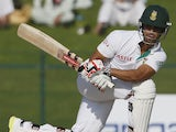 South African cricketer Robin Peterson bats during his first Test against Pakistan at the Sheikh Zayed Cricket Stadium in Abu Dhabi on October 14, 2013