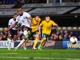 Saido Berahino of England scores a goal during the 2015 UEFA European U21 Championships Qualifying Group One match between England U21 and Lithuania U21 on October 15, 2013