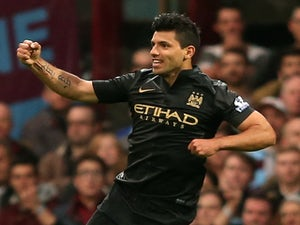Half-Time Report: Aguero goal gives City the lead