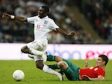 Shaun Wright-Phillips is fouled during England's World Cup qualifier against Belarus in October 2009.