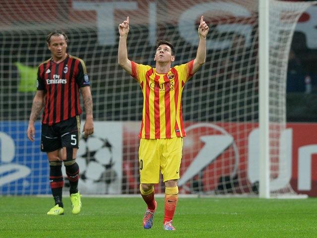 Result: Spoils shared between Barcelona, Milan