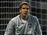 Arran Lee-Barrett of Ipswich Town in action during the Carling Cup First Round Match between Ipswich Town and Northampton Town at Portman Road on August 9, 2011