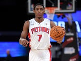 Detroit Pistons' Brandon Knight in action during the BBVA Rising Stars Challenge 2013 on February 15, 2013
