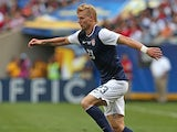 Brek Shea #23 of the United States controls the ball against Panama during the CONCACAF Gold Cup final match at Soldier Field on July 28, 2013
