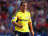 Sunderland's David Vaughan in action against Crystal Palace on August 31, 2013