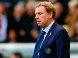 QPR manager Harry Redknapp on the touchline during his team's match against Burnley on October 26, 2013