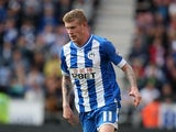 James McClean of Wigan Athletic in action during the Sky Bet Championship match between Wigan Athletic and Blackburn Rovers at DW Stadium on October 6, 2013