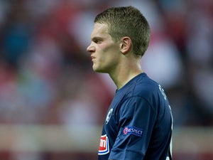 Mattias Ginter of SC Freiburg looks on during the UEFA Europa League group H match between Sevilla FC and SC Freiburg at Estadio Ramon Sanchez Pizjuan on October 3, 2013
