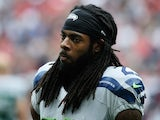 Richard Sherman of the Seattle Seahawks is seen on the field during the game against the Houston Texans at Reliant Stadium on September 29, 2013