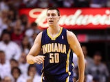 Indiana Pacers' Tyler Hansbrough in action against Miami Heat on May 30, 2013