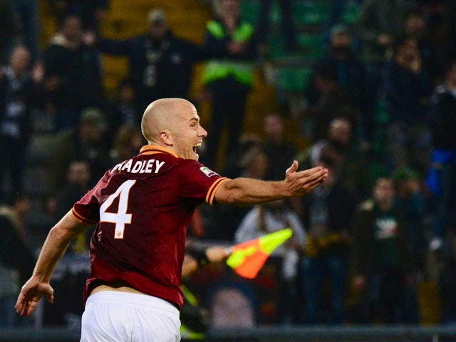 Result: Ten-man Roma maintain perfect record