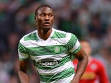 Amido Balde of Celtic during the UEFA Champions League Second Qualifying Round Second Leg match between Celtic and Cliftonville at Celtic Park Stadium on July 23, 2013