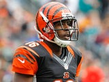 Wide receiver Andrew Hawkins of the Cincinnati Bengals walks on the field during the game against the Miami Dolphins at Paul Brown Stadium on October 7, 2012