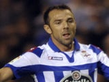 Deportivo Coruna's midfielder Carlos Marchena in action against Barcelona on October 20, 2012