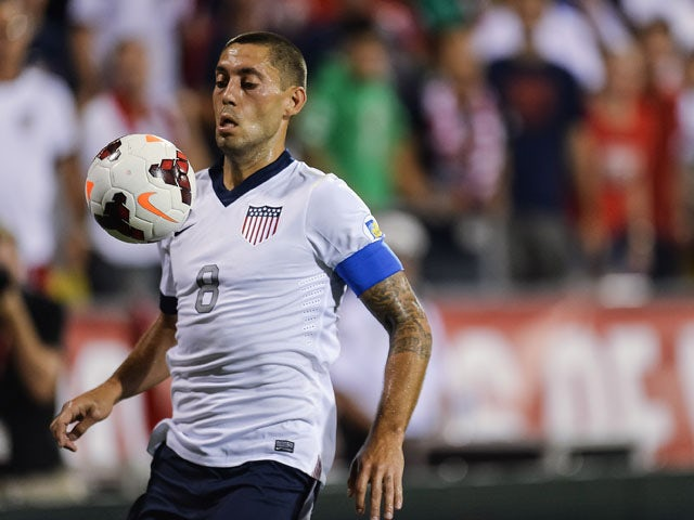 Clint Dempsey #8 of the United States Men's National Team in action against Mexico at Columbus Crew Stadium on September 10, 2013
