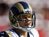 Cortland Finnegan of the St. Louis Rams warms up before a game against the San Francisco 49ers on November 11, 2012