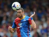 Damien Delaney of Crystal Palace during a pre-season friendly between Crystal Palace and Lazio at Selhurst Park on August 10, 2013
