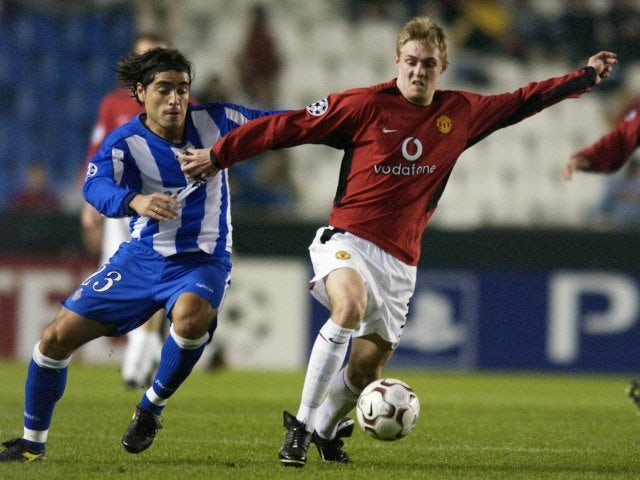 One of Fletcher's first appearances for United came in the Champions League against Deportivo in 2003.
