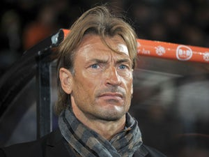 Sochaux's French coach Herve Renard attends the French L1 football match Lorient vs Sochaux on October 26, 2013