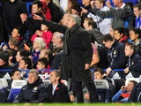 Chelsea's Portuguese manager Jose Mourinho gestures during the English Premier League football match between Chelsea and Manchester City at Stamford Bridge in west London on October 27, 2013