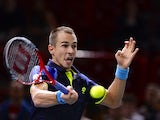 Czech Republic's Lukas Rosol returns a shot to France's Jeremy Chardy during a match at the ninth and final ATP World Tour Masters 1000 tennis tournament on October 28, 2013