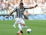 Mauricio Isla of Juventus in action during the Serie A match between Juventus and Hellas Verona FC at Juventus Arena on September 22, 2013